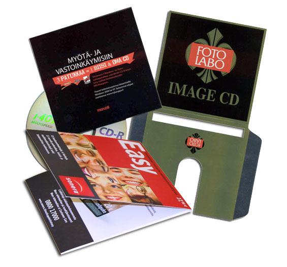 CD-kotelot, kartonkia